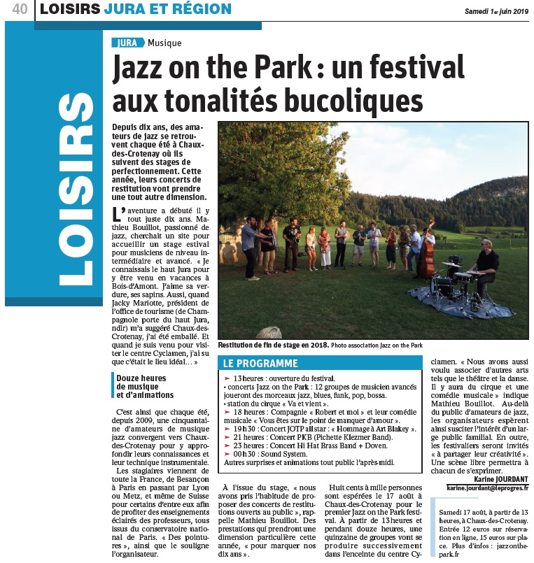 Festival Jazz On The Park